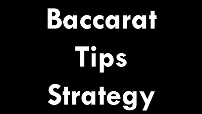 casino baccarat tips